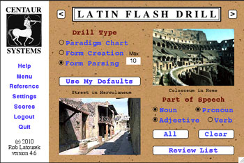 Latin Flash Drill 4.6 screen shot